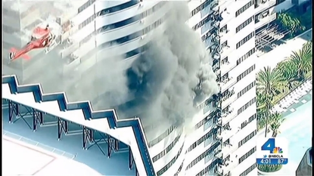 [LA] Burned High-Rise Didn't Have Sprinklers