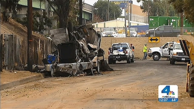 [LA] Residents Describe Fire After 710 Fwy. Tanker Crash