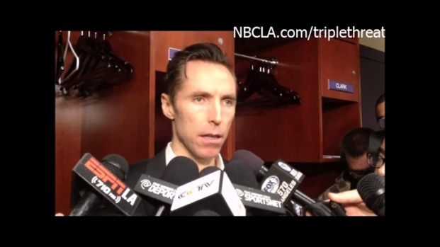 [LA] Lakers-Thunder Locker Room Quotes - Steve Nash
