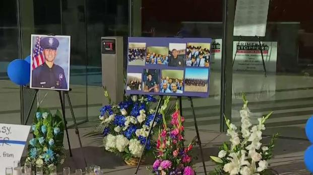 [LA] Loved Ones Gather at Memorial for Fallen LAPD Officer
