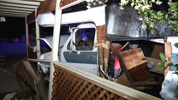 Motorhome Slams into El Cajon House