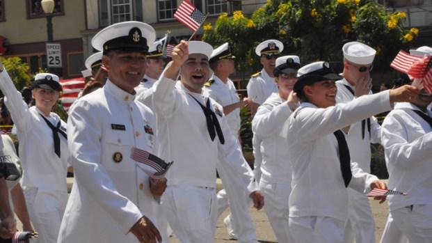 [DGO] Navy Uniforms Welcome at SD Pride Parade