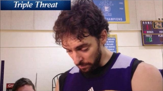 [LA] Pau Gasol Discussing 3-Pointers, Injuries, Goals, and Lakers' Bench