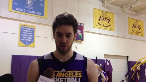 [LA] Pau Gasol Returns To Lakers Practice