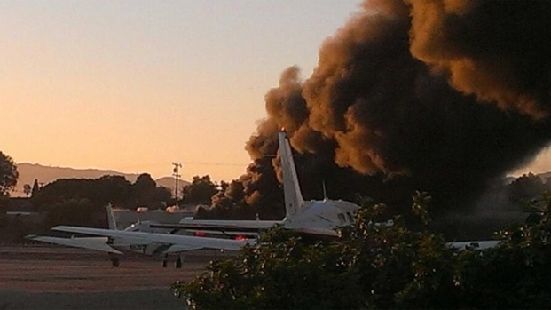 [LA] Private Jet Crashes, Burns at Santa Monica Airport