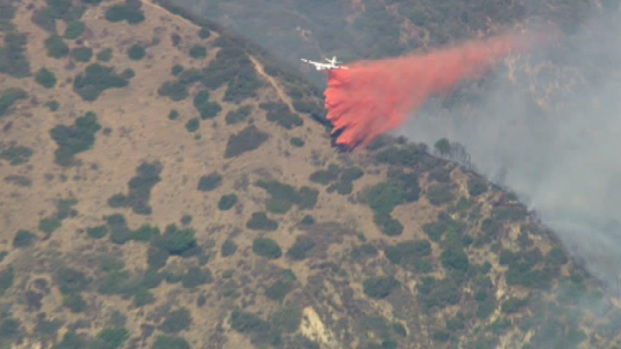 Fire Burns in Hills Above Azusa