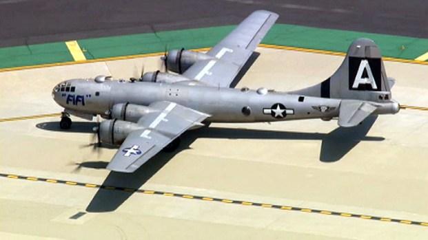 [LA] B-29 Superfortress Soars Over Burbank