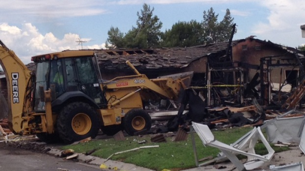 Riverside House Explosion Images