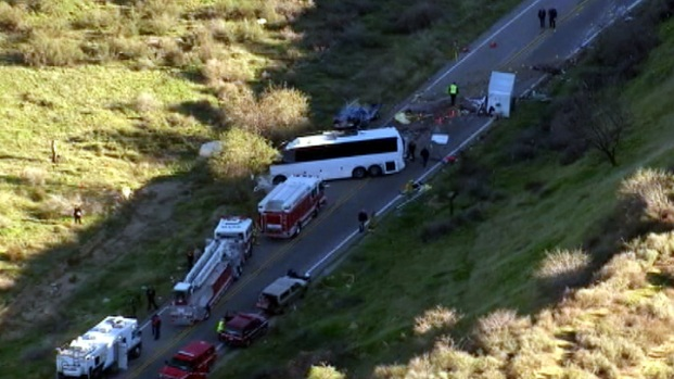 [LA] Girl, 11, Among Critically Injured in Tour Bus Crash