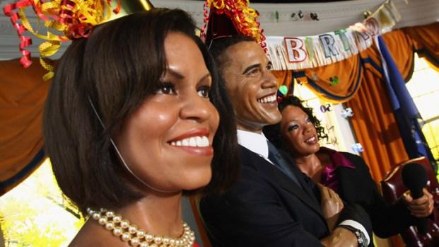 Wax Obamas Celebrate at Madame Tussauds