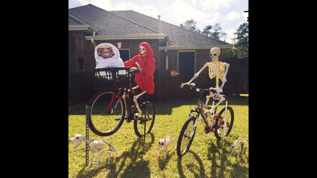 Keeping Up With the Bones: Hilarious Halloween Decorations Keep Texas Neighborhood Guessing