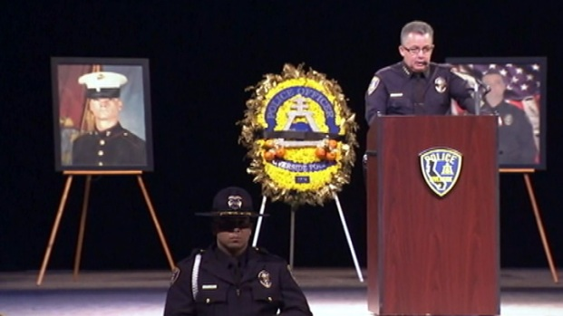 [LA] Riverside Chief, Brother and Former Training Officer Speak at Officer's Memorial