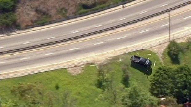 [LA] Freeway Pursuit Ends in Crash in Palos Verdes
