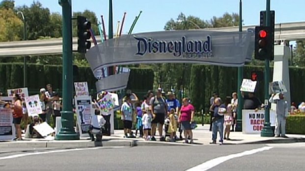 [LA] Protesters Ask Disney to Pressure Anaheim Over Police Shootings