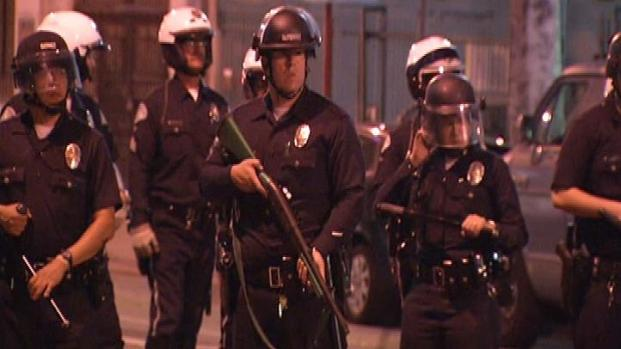 [LA] Occupy LA Demonstration Catches Police By Surprise: Cops
