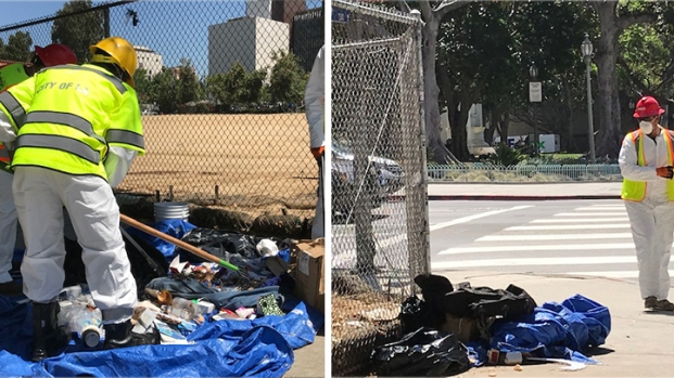 Street Cleanup Gets Underway in Downtown LA