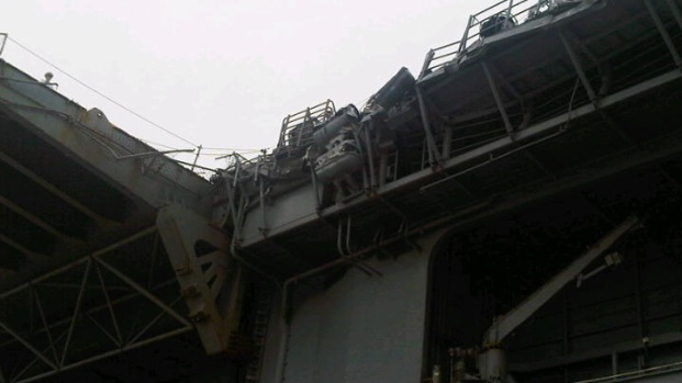 Damage to USS Essex