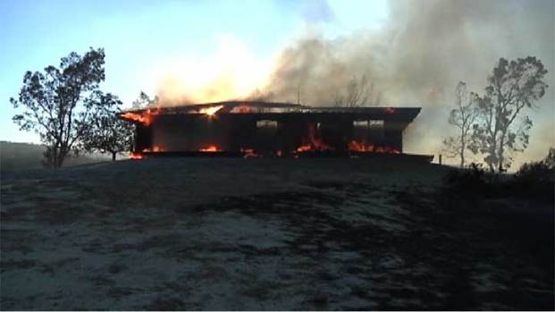 [LA] Silver Fire Evacuee Visits Burn Area