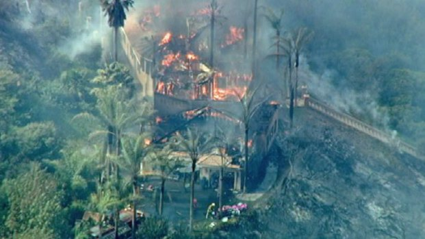 At Least One Home Burned in Murrieta-Area Fire - NBC