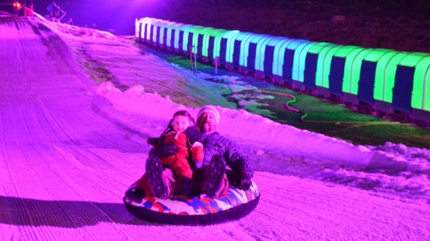 Nighttime Glow Tubing Glides into Big Bear