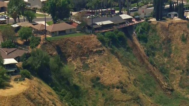 [LA] Homeowner, Businesses Below Landslide Anxiously Watch Hillside