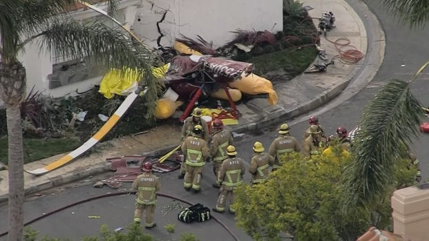 [LA] Helicopter Crashes Into House, Three Dead