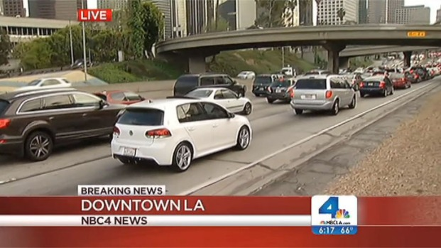 [LA] Shooting Victim Tossed From Car on 110 Freeway in Downtown LA