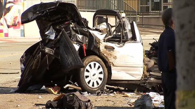 "[LA] LAPD Car Crash Witness: ""I Don't Know How He's Alive"""