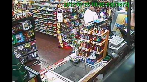 [BAY] Raw Video: Surveillance Captures Lottery Winner
