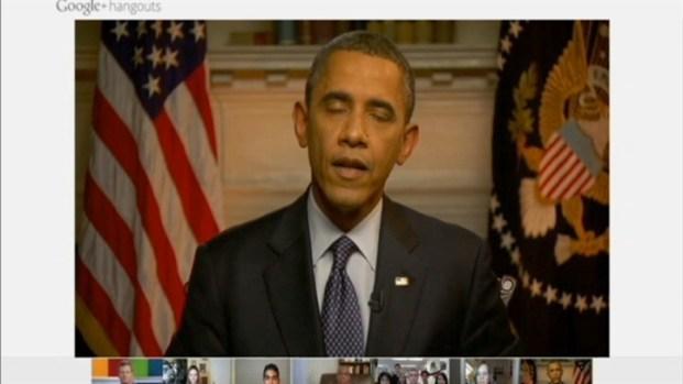 [BAY] Raw Video: Pres. Obama on Google+ Hangout