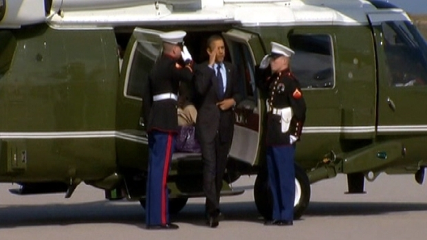 [LA] Cars, Helicopters and Jetliners: Obama Leaves LA