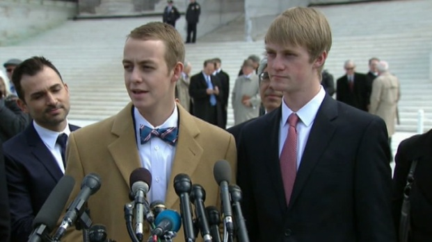 [LA] Prop 8 Case Plaintiffs, Son Speak After Supreme Court Hearing