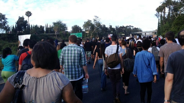 Protesters Shut Down 10 Freeway