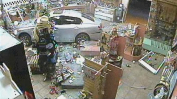 [BAY] Raw Video: Car Crashes Into Gas Station