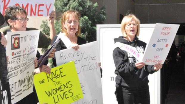 Dems, Latinos Protest Romney Visit