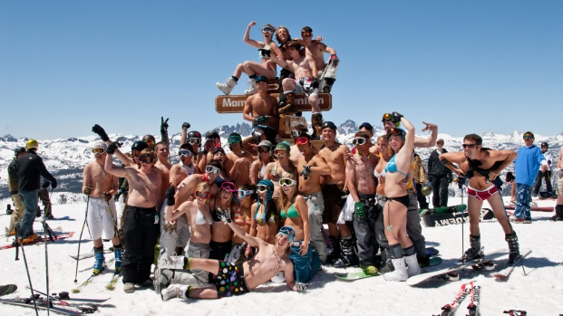 Summer Skiers Don Bikinis Down the Slopes of Mammoth Mountain