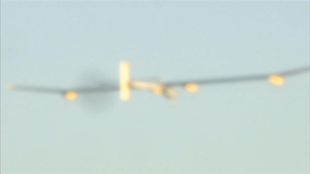 [BAY] Raw Video: Solar Plane Takes Off From Moffett Field