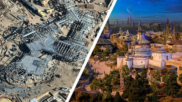 Look From Above: Disneyland's Star Wars Land and More