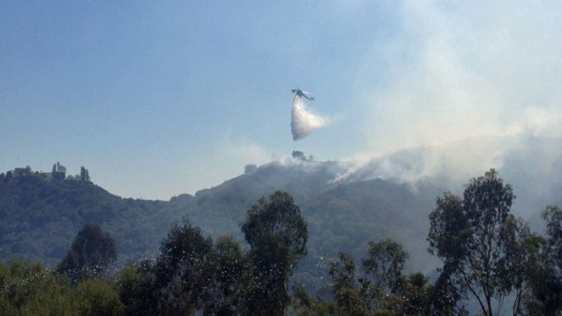 Fire Burns Rustic Canyon