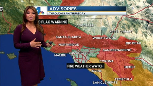 [LA] AM Forecast: Red Flag Warning in Effect