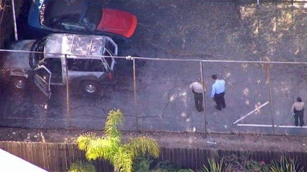 [LA] Charred Body Found in Burnt SUV in Palos Verdes