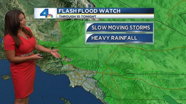 [LA] AM Forecast: Storms Prompt Flood Watches