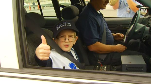 [LA GALLERY] Boy With Rare Condition Spends Wild Day With LA Police, Firefighters