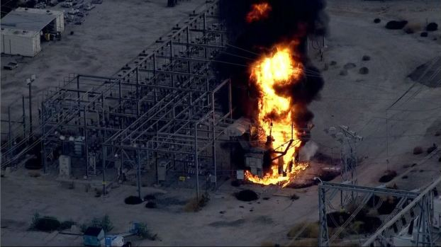 Photos: LADWP Plant Fire as Seen From Around the Valley
