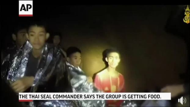 Warm in Blankets, Thai Boys Smile, Joke With Rescuer in Cave