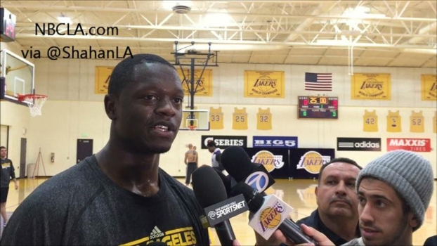 Julius Randle On the Lakers' Practice Court
