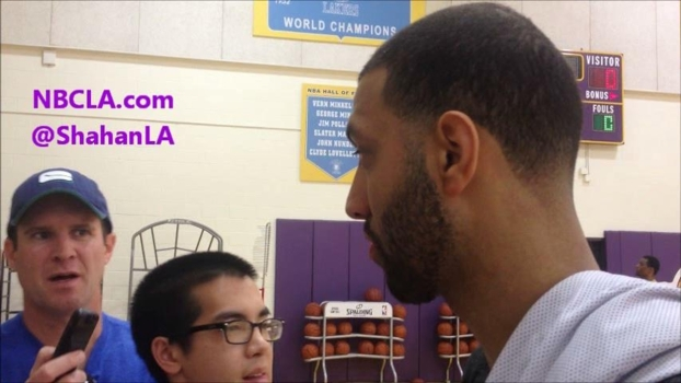Lakers' Kendall Marshall At Practice
