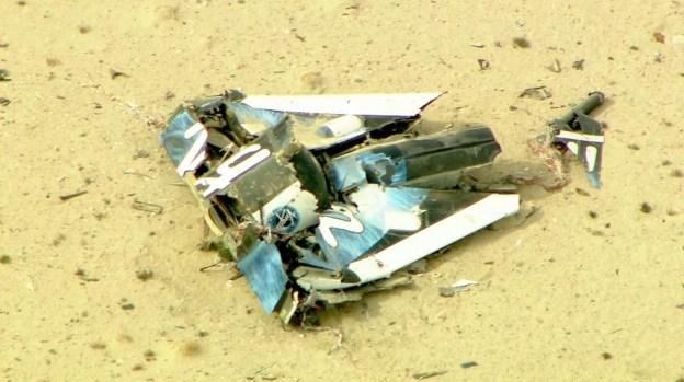[LA GALLERY] SpaceShipTwo Crashes in Mojave Desert Test Flight
