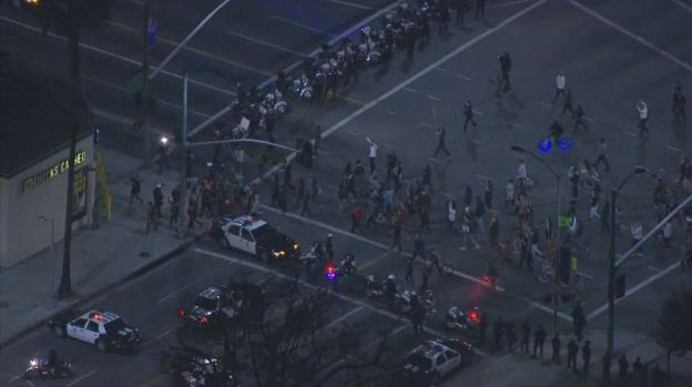 Protests Erupt Across LA After Ferguson Grand Jury Decision: Day 1