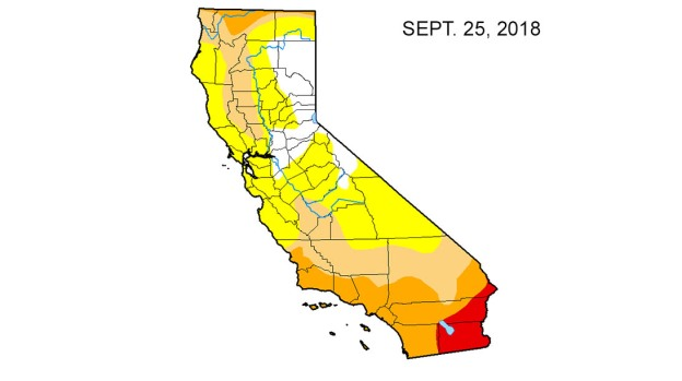 Map: Look at the Drought Difference in California From One ... California On The Map on california road map, usa map, nevada city california map, california counties map, mexico baja california peninsula map, state map, carmel california coast map, california flag, california history, illinois on us map, riverside california map, la california map, sacramento california map, san francisco california map, calif map, oakland california map, northern california map, channel islands california map, vintage california map, california on satellite,